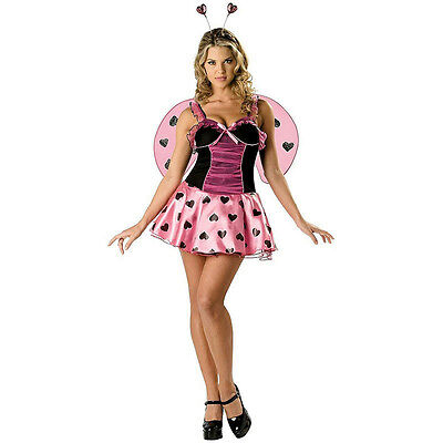 Lovebug Costume (Luscious Love Bug Adult Sexy Valentines Day Womens Costume Size)