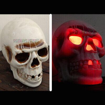 "13"" SKULL BLOW MOLD LIGHT Halloween decoration horror creepy spooky cool anatomy"