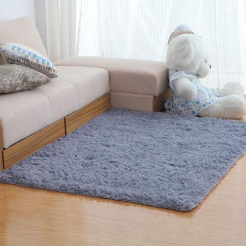 3cm Weich Teppich Kurz Shaggy Fellteppich Kunstfell Hochflor Mat Carpet Waschbar