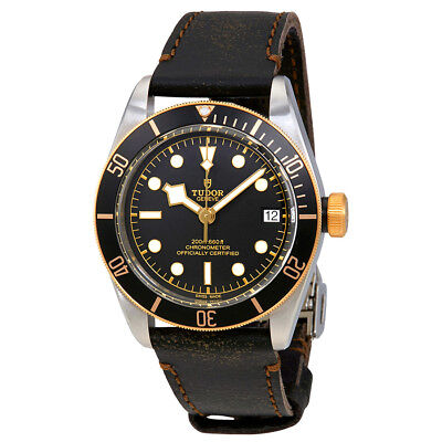 Tudor Heritage Black Bay Automatic Mens Aged Leather Watch 79733N-0001