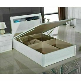 🤩👑 50% OFF HUGE STORAGE WOODEN BEDS WITH LIGHTS & USB CHARGING PORT SINGLE DOUBLE KING