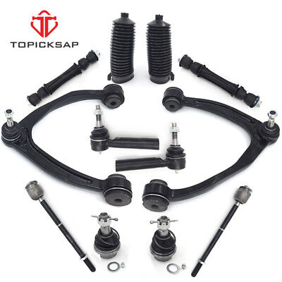 For 2007-2014 Chevy GMC 1500 Control arm Ball joint Tie rod Boots Sway bar link  Escalade Front End