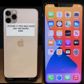 IPHONE 11 PRO MAX - 64gb - ANY NETWORK £599