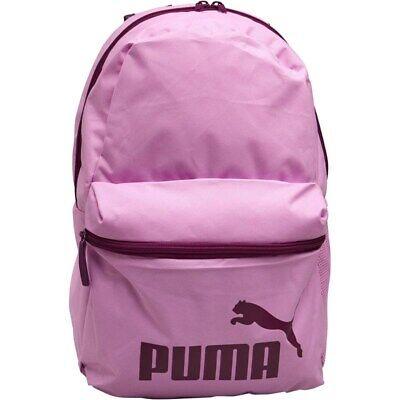 Puma Phase Backpack Orchid Light Pink UK Original Ladies Girls School Gym
