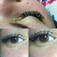Eyelash extensions, manicures, pedicures