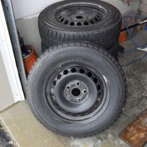 4 Snow Tires 195-65-15 on rims