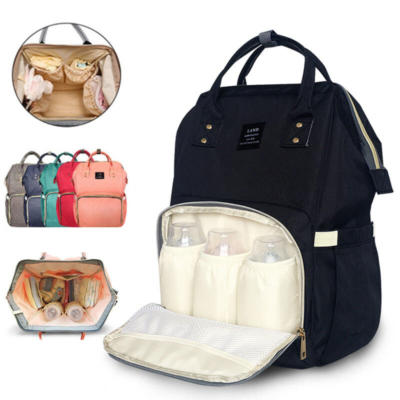 Baby Mummy Diaper Nappy Bag Backpack Maternity Solid Color T