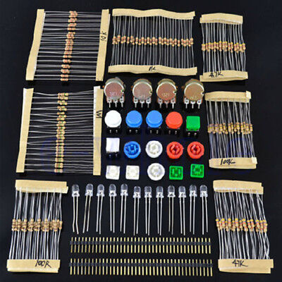 Electronic Parts Pack KIT for ARDUINO Component Switch Button Resistors ()