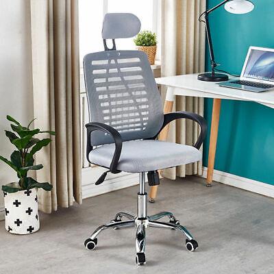 Office Chair Mesh Ergonomic Luxury Adjustable Swivel Executive Headrest Chairs