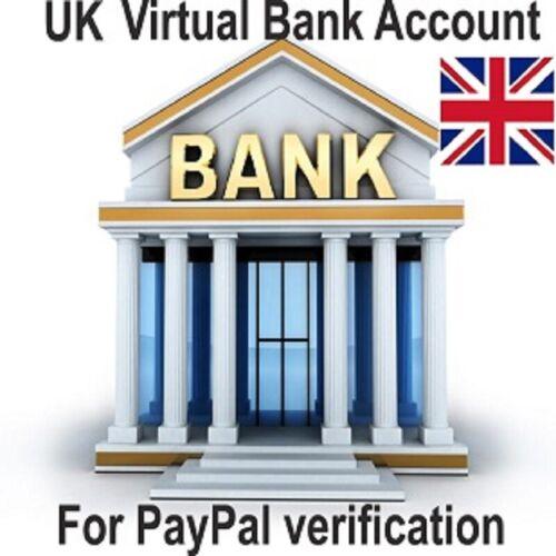 Uk Virtual Bank Account For Uk (united kingdom)  PayPal Verification