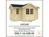 Luxury 40mm Summer House 4.76m W x 2.77m D (15ft x 9ft)