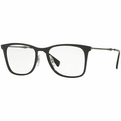 Ray-Ban Rx Eyeglasses Black Color w/Demo Lens Unisex RX7086 2000 (Colored Eyeglass Lenses)