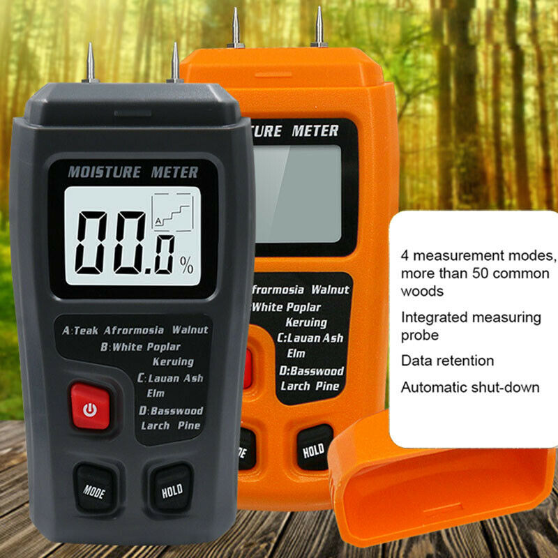 High Precision Wood Moisture Meter Hygrometer Density Digita
