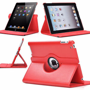 Leather 360 Degree Rotating  Stand Case Cover For APPLE iPad