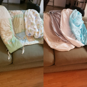 Crib set and extra crib fitted sheet