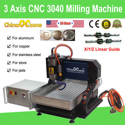 3axis Cnc 3040 Router 2200w Milling Carving Engraving Machine Linear Guide