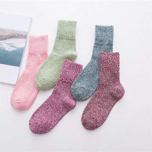 5Pair Warm Winter Women's Socks Pure color Woolen Soft Thick Cashmere Floor Sock Clothing, Shoes & Accessories