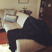 Luxury Sale Exotic Fur Throws Comfy Brown Rabbit Blanket 62'' X 55'' Super Soft - unbranded - ebay.co.uk