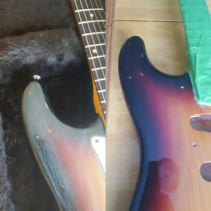 Electric guitar refinishing, setup, repair, and modification