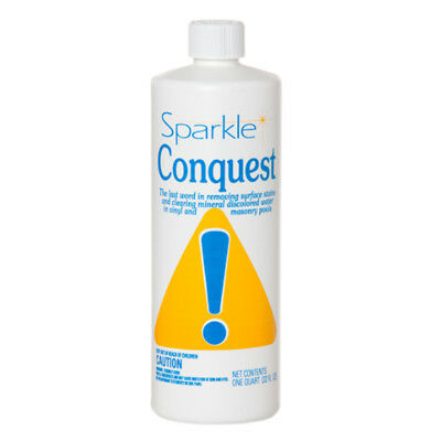 Sparkle Conquest Quart Stain Remover Masonry & Vinyl for Swimming Pools - - Masonry Stain Remove
