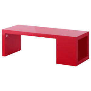 IKEA RED LACK COFFEE TABLE