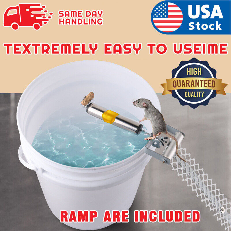 USA Mice Rats Mouse killer Roll Trap log Grasp Bucket Rolling Roller+Ramp Animal & Rodent Control