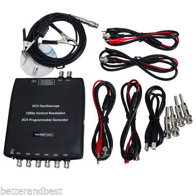Hantek 1008C 8CH Automotive USB Diagnostic Oscilloscope DAQ Program Generator UK