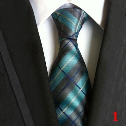 Classic Mens Necktie Jacquard Woven Narrow Skinny Silk Tie Slim Business, US