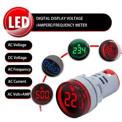 Digital Voltage Amp Frequency Panel Meter Voltmeter Ampere Ac 24-500v Dc 5-60v