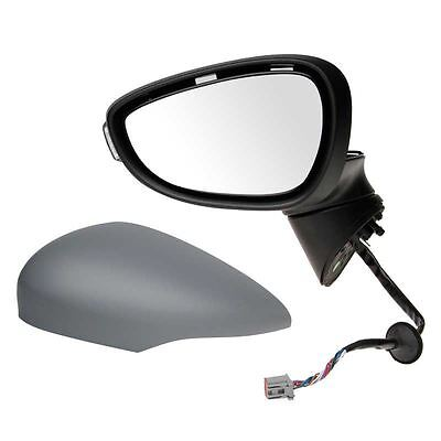 Ford Fiesta Mk7 2008 2012 Electric Wing Door Mirror Primed Passenger Side NS