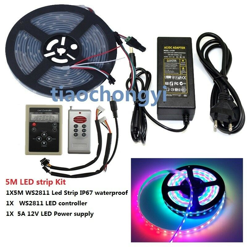 12V WS2811 RGB Addressable led strip IP67+RF Wireless
