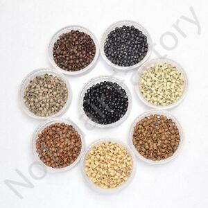 Nano-Micro-Copper-Rings-for-use-W-Remy-Nano-Hair-Extensions-Beads-2-4mm-1-9mm