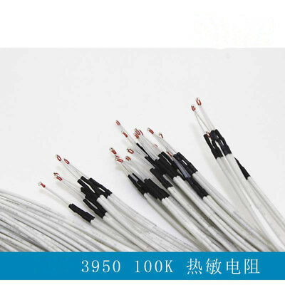 20pcs New Ntc 3950 Reprap With 1 Meter Wire Thermistor 100k For 3d Printer