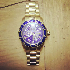 Gold & Blue Invicta Watch