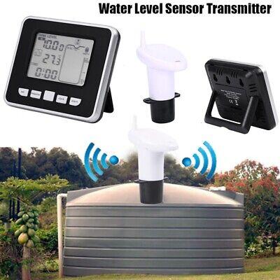 Ultrasonic Water Tank Sensor Liquid Depth Level Meter With Temperature Display