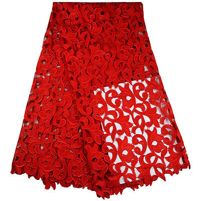 Ткань African Lace Fabric/Swiss Lace Fabric/Red