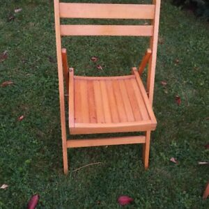 wooden folding chairs for 3 for 30.dollars