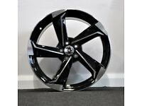 """18"""" A9 TWIST Style alloy wheels and tyres (5x100) Suits VW Polo, Audi A1, Seat Ibiza etc"""