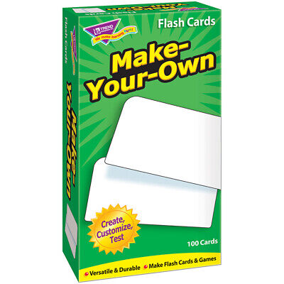 TREND ENTERPRISES INC FLASH CARDS MAKE YOUR OWN 100/BOX