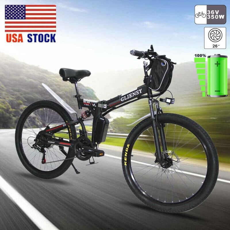 26 folding electric 350w city mountain bike