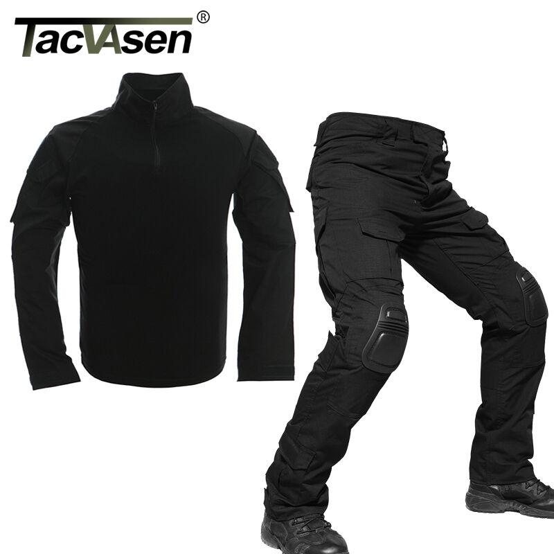 US Large Tactical Combat Uniform Sets CS Cargo Military Shirt Pants Army Trouser