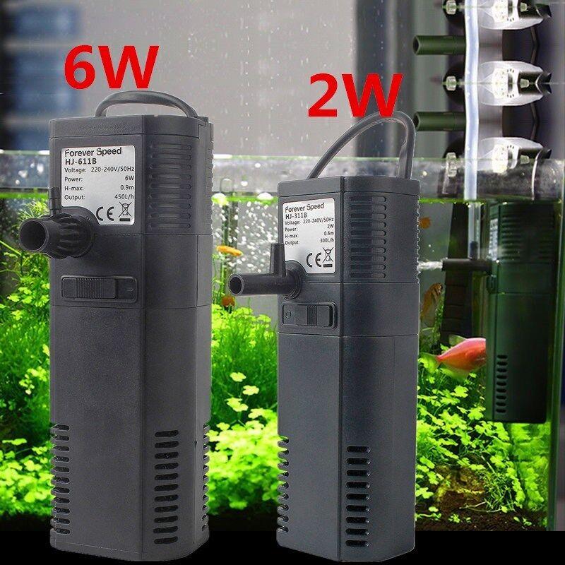 Innenfilter Aquariumpumpe Filterpumpe Aquarien Filt 450 L/H 6W 300L/H 2W