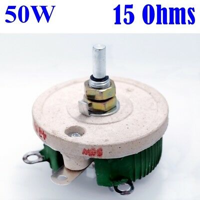50w 15 Ohm Power Wirewound Potentiometer Rheostat Variable Resistor