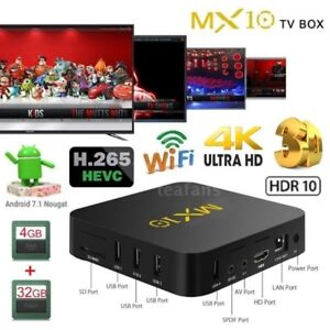 MX10 Smart TV BOX Android PENTACORE 4GB 32GB