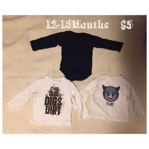 Variety of EUC Boys Clothing 6months-18Months