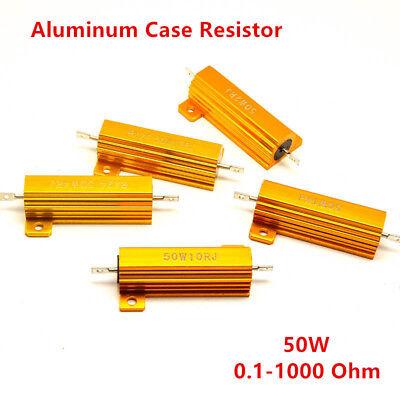 2pcs 50w 0.1 1000 Resistorance Watt Power Metal Shell Wirewound Resistors