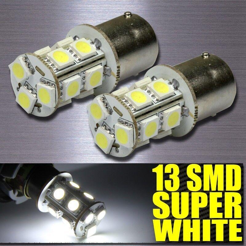 12V White 1156 BA15S 13-SMD 5050 LED Light bulbs Turn Signal Backup Reverse X 10