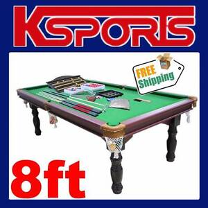 TRADITIONAL 8FT PUB SIZE POOL TABLE SNOOKER BILLIARD TABLE GREEN Somerton Hume Area Preview