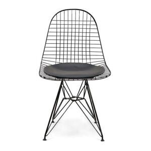 Fs: black wire mesh chairs with black pads