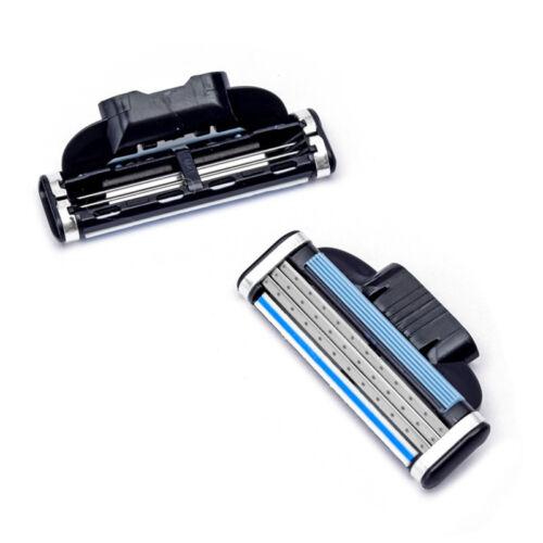 4Pcs Mach 3 Cartridges Manual Razor Blades Shaving Three-lay